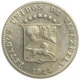 Agradable Moneda De Venezuela 12½ Céntimos - Locha De 1945