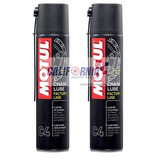Kit 2 Lubrificantes Corrente Motul C4 Chain Lube Moto 400ml