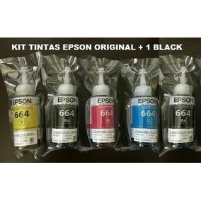 Kit Tintas Epson Original L395 L375 L365 L220 L455 L355 L800