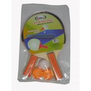 Kit Ping Pong Tênis De Mesa 2 Raquetes E 3 Bolinhas Oferta.
