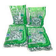 Dulce Eucaliptol 4 Bolsas C 100pz Caramelo Mentol Eucalipto