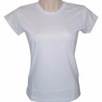 Baby Look Camiseta Feminina Lisa 100% Poliester Sublimação