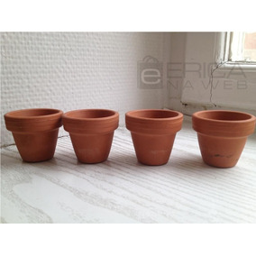 15 Vaso De Barro 11x12cm Artesanato Plantas Orquídea Medida