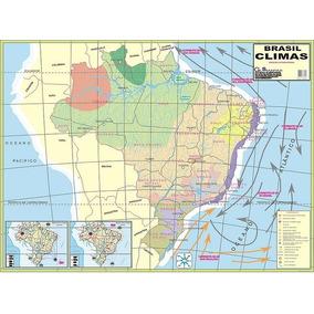 Mapa Do Brasil Climas Telado Globomapas