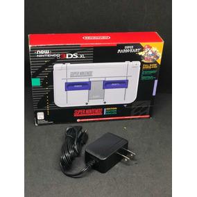 New 3ds Xl Edição Especial Super Nintendo Snes C/ Mário Kart