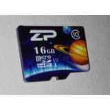 Memoria Micro Sd 16gb Clase 10 Marca Zp Hecha En Taiwan 16 G