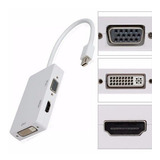 Cabo Adaptador Mac Thunderbolt/mini Displayport 3x1 Hdmi Vga