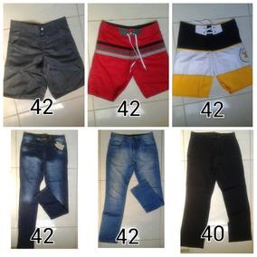 Lote Roupas Masculino Bermuda Calça Jeans E Social
