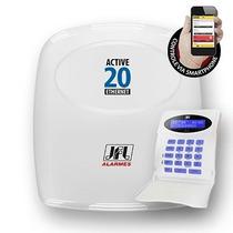 Central De Alarme -jfl Active-20 Ethernet + Cabo Usb