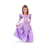 Vestido Fantasia Infantil Princesa Sofia Luxo Longo Menina