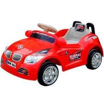 Carro Eletrico Infantil Vermelho Buzina Som Criança Carrinho