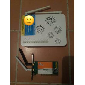 Combo Modem Fibra Optica Y Tarjeta Wifi Para Pc D Escritorio