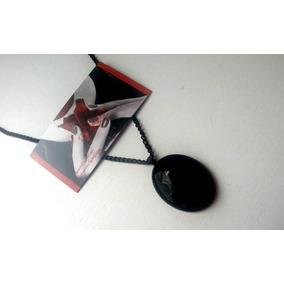 Colar Oval Preto Gotico Dark Vintage Frete R$9