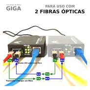 Conversor De Mídia Giga - Fibra Dupla - Htb-gs-03 - 20km 3a