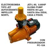 Bomba De Agua Con Presurizador Automatico Jet 0.60hp, Alco