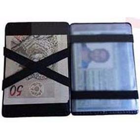 Carteira Mágica Porta Dinheiro Cartões Em Couro Menor Preço