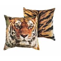 Capa Para Almofada Tigre Animale - Kacyumara