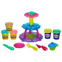 Conjunto Play Doh Torre De Cupcake Massinha