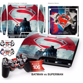 Adesivo Ps3 Slim Vinil Pelicula Skin Batman Vs Superman