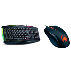 Combo Gamer Gx Teclado K220 + Mouse Ammox X1 400 3200 Dpi
