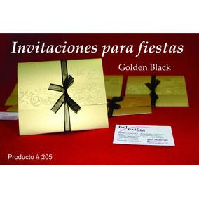 Tarjetas De Invitaciones - Elegancia