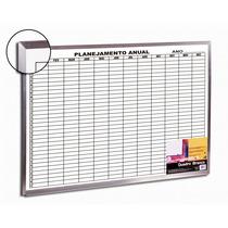 Quadro Branco 120x90 Planejamento Mensal Alum +kit 4 Canetas