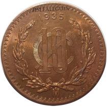 10 Centavos 1935 Estados Unidos Mexicanos - Brillo Original