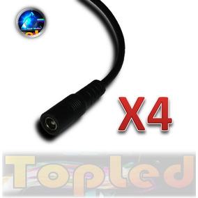 4 Conectores 12v Hembra 5.5mm X 2.1mm Para Tiras Led @tl