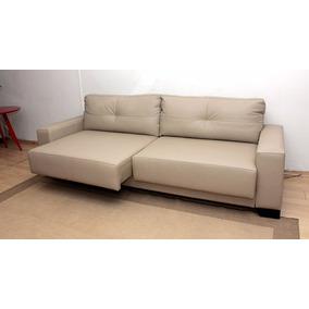 Sofa De Couro Retratil 2 Modulos | Dubai - 2,30m