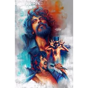 Poster Raul Seixas A3 Desenho Arte Decoração Cartaz