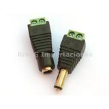 Conector Eléctrico 12v Macho + Hembra Atornillable