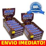 Snickers Chocolate Duas Caixas C/ 20un Cada 52,7g Cada Barra