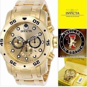 8d90f670a46 Invicta 0074 Original Banhado Ouro 18k Envios 24 Horas - Relógios De ...