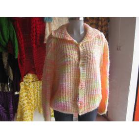 Sweaters Tejidos A Mano En Estambre T.grande Varios Diseños