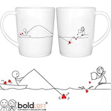 Boldloft Catch My Heart His And Hers Coffee Mugs-long Dist