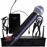 Microfono Inalambrico Lexsen 2 En 3 Mano Vincha Guitarra