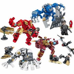 Kit Comple 4 Lego Homem De Ferro Hulkbuster Mark 15 17 38 39