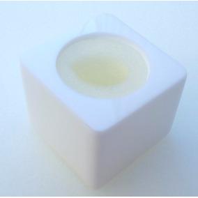 01 Canopla Para Microfone Em Acrílico Modelo Cubo
