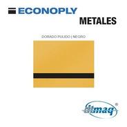 Plancha Placa Laserable Econoply Oro Pulido / Negro 60x40cm