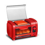 Elite Cuisine Ehd-051r Hot Dog Roller, Combo Tostador Rojo.