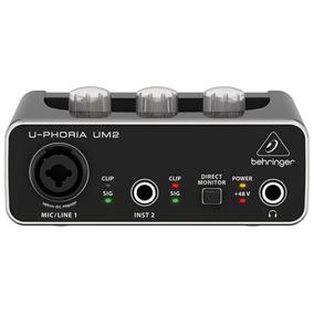 Interface De Audio Usb Behringer Placa Uphoria Um2 Com Nota
