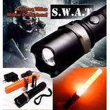 Lanterna Tática Led Cree Q5 Police Swat Recarregavel 88000w