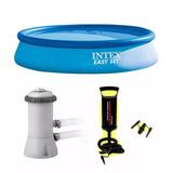 Grande Pileta Intex Inflable 396 X 84 + Bomba + 2 Filtros