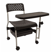Cadeira Para Manicure, Mesa Giratória C/ Regulagem De Altura