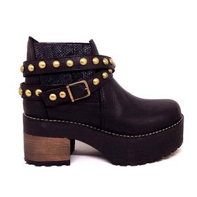 Shoes Bota Tachas Botineta Estribos Magali Hebillas Mujer xw87qpYw4