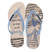 Chinelo Feminino Havaianas Slim Princesas - Azul