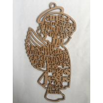 Recuerdo Angel De La Guarda Niña Mdf 3mm. Personalizados