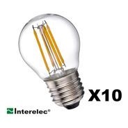 Lámpara Filamento Led Gota 4w Luz Cálida E27 Vintage X10
