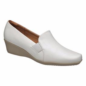 Sapato Branco Enfermagem Fechado Uniforme Profissional