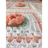 Manta Tejidas Artesanalmente Mantillas Crochet Para Bebes
